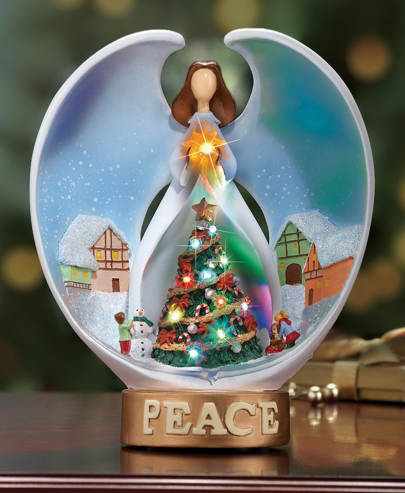 Led Lighted Winter Village Christmas Angel Tabletop Decor