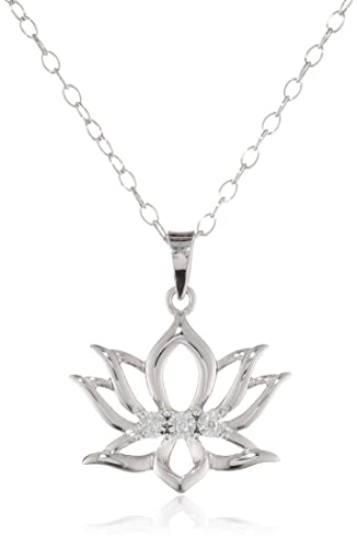 DiAura-Sterling-Silver-Diamond-Accent-Lotus-Flower-Pendant-Necklace-18-