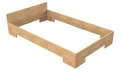 Baßner Holzbau 18mm Echtholzbett Massivholzbett Buche 100x200 Fuß II 30cm Rahmenhöhe
