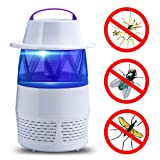 Electric Bug Zapper LED Bug Zapper USB Fly Trap Flying Insect Killer Mosquito Killer Lamp Night Lamp Pest Repellents Pest Control Baits and Lures Bug Zappers Mosquito Dispeller (White) (Color: White)
