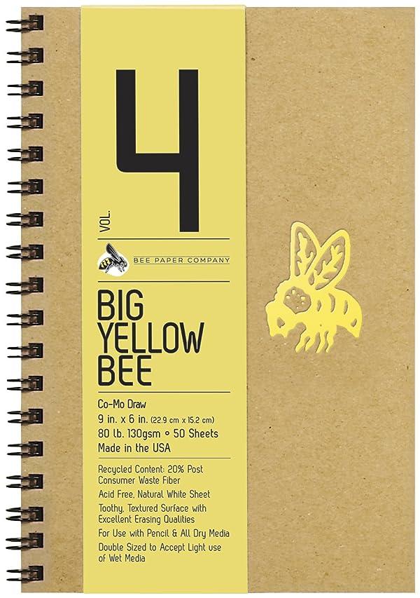 Bee Paper Company Big Yellow Bee Drawing Pad, 9 by 6-Inch, Como (Tamaño: 6-inch x 9-inch, 50 Sheet Sketchbook)