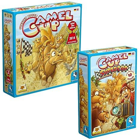Camel Cup Jeu de société et Supercup Expansion Bundle (Allemand + Anglais)