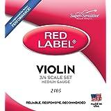 Super Sensitive Steelcore 3/4 Violin Strings: Set (Color: Full Set, Tamaño: 3/4)
