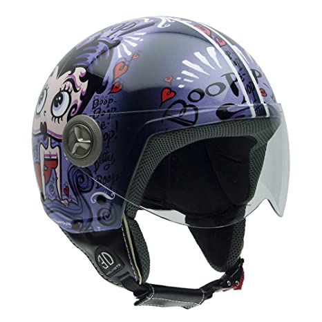 NZI 490020G557 Vintage II Pudgy & Betty Casque de Moto, Illustration Betty Boop, Taille : XS