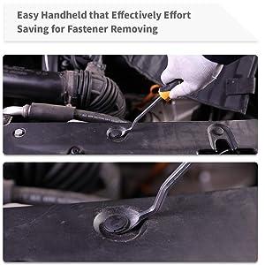 UTOOL Auto Trim Removal Tool 9 Pcs for Car Dash Audio Radio Door Panel Removal Tool with Ergonomic Design Nylon Fastener Remover (Color: black)