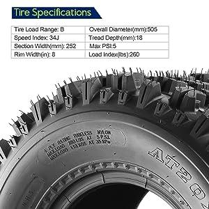 10077//10081 Set of 4 Sport ATV Tires 22x7-10 Front /& 20x10-9 Rear //4PR