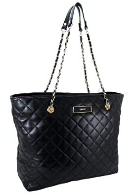 yve saint laurent wallet - DKNY Handbag, Quilted Logo Leather Large Tote Black: Handbags ...