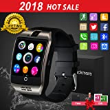 Smart Watch for Android Phones, Bluetooth Smartwatch Touchscreen with Camera, Unlocked Smart Watches with SIM Card Slot, Waterproof Smart Wrist Watch Phone for Women Man Kids Samsung IOS iPhone (Color: BLACK)