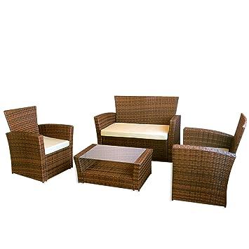 """Muebles de jardin """"Le Havre"""" II en marron"""