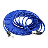 Pasow CAT7 RJ45 10Gbps Ethernet Internet Cable Nylon Braid STP LAN Network Cord (15FT/5M)