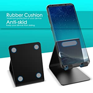 Cell Phone Stand, Lamicall Phone Stand: Cradle, Dock, Holder Compatible with All Android Smartphone, Phone 7 6 6s 8 X Plus 5 5s 5c XS Max XR Charging, Universal Accessories Desk - Black (Color: Black)