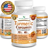? Extra Strength Turmeric Curcumin with BioPerine Black Pepper 1500mg 100% Natural Joint Pain Relief Supplement for Inflammation 90 Tumeric Extract Pills Best Immune Boost Root Powder Capsules