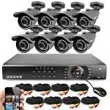 Best Vision 16CH 4-in-1 HD DVR Security Camera System (1TB HDD), 8pcs 1080P High Definition Outdoor Cameras with Night Vision - DIY Kit, App for Smartphone Remote Monitoring (Color: Black, Tamaño: 16CH+8Camera)