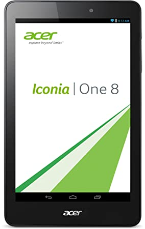 "Acer Iconia B1-810-18RW Tablette tactile 8"" Noir (Intel Atom, 16 Go, Android KitKat 4.4, Wifi)"