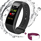Fitness Tracker Watch, Heart Rate Monitor with Color Screen Waterproof Smart Bracelet , Blood Pressure Monitor /Sports/ Steps Counter/ Sleep Monitor for Android and IOS