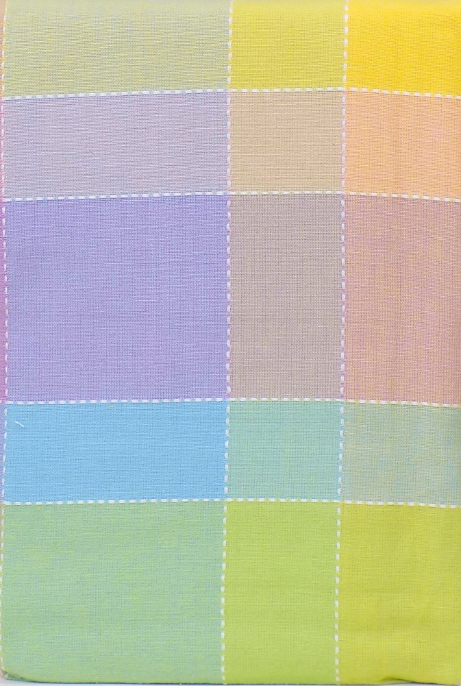 Pastel Plaid Fabric Spring And Easter Tablecloth, 60 X 102 Cotton Pastel  Plaid Fabric Tablecloth With White Running Stitch Borders Pastel Greens,  Yellows, ...