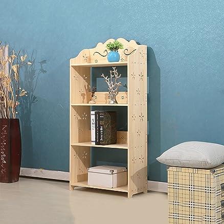 AJZGF Scaffale moderno per scaffali per studenti moderni in legno massello in massello di legno massiccio Ripiani ( dimensioni : 4 layers )