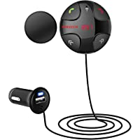 SOWTECH Wireless Bluetooth Hands-Free FM Transmitter with Magnetic Mount & USB Charger