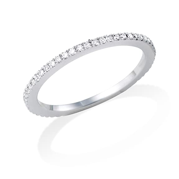 Miore MP005 Eternity Ring, 18 ct White Gold Diamond Eternity Ring, 1/3 carat Diamond Weight