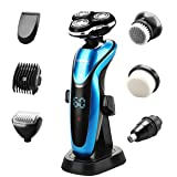 CEENWES Electric Razor Waterproof Men Beard Trimmer Rechargeable Portable Cordless Electric Shaver Wet and Dry Grooming Kit (Color: A101)