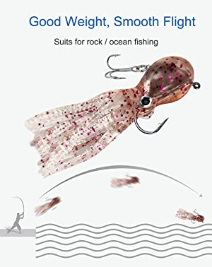 Amicablefish Octopus Swimbait Soft Fishing Lure with Skirt
