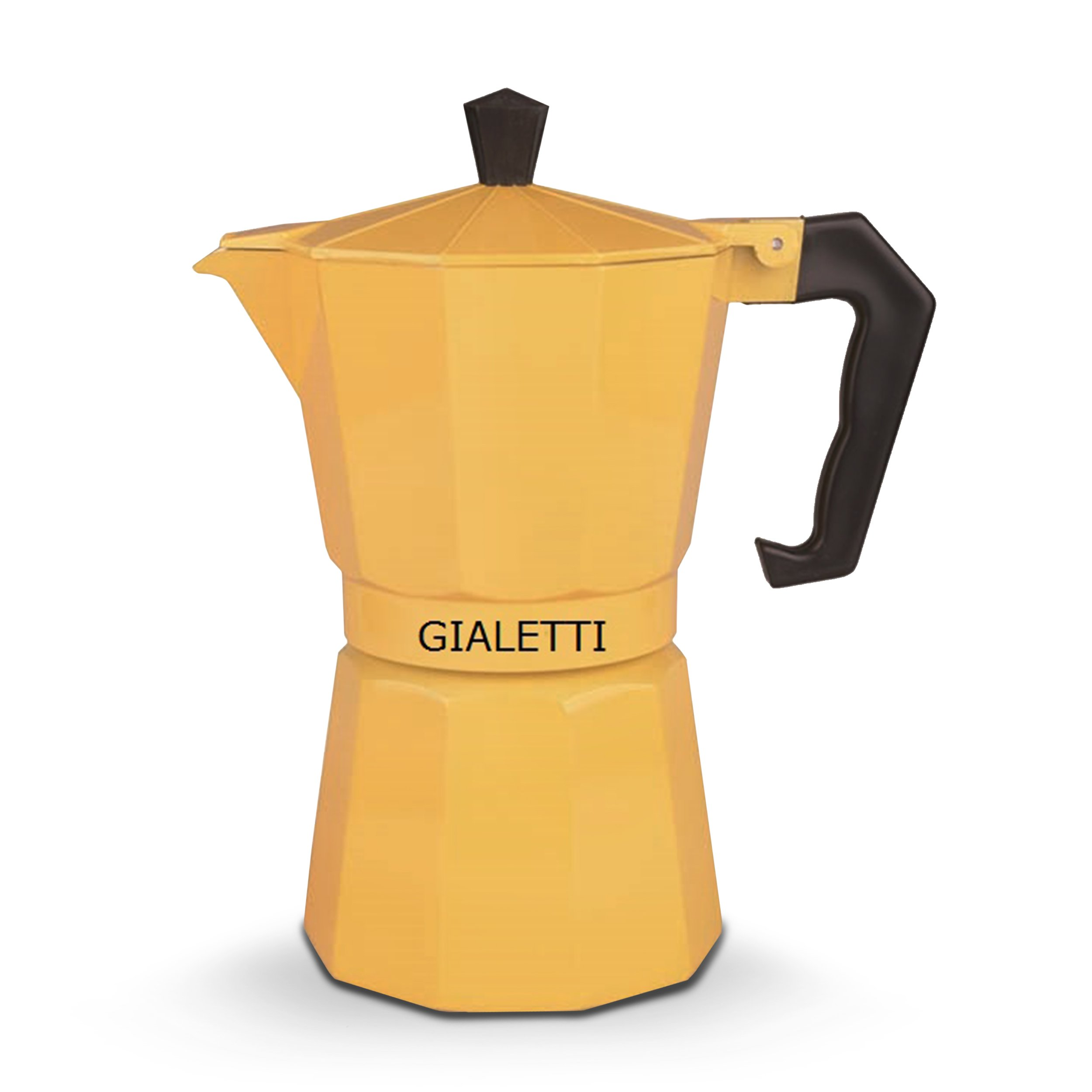 Italian Coffee Maker Percolator : Gialetti Stovetop Espresso Pot 6-Cup Italian Coffee Maker Percolator, Yellow New eBay
