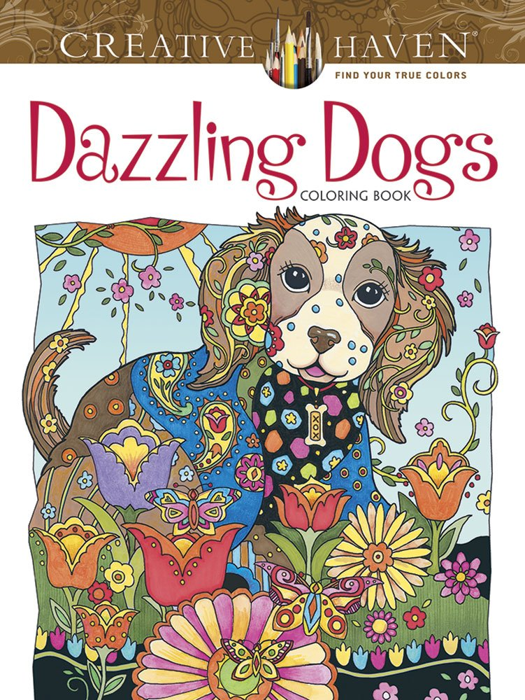 Creative Haven Dazzling Dogs Coloring Book ISBN-13 9780486803821