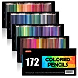 Shuttle Art 172 Colored Pencils, Soft Core Color Pencil Set for Adult Coloring Books Artist Drawing Sketching Crafting (Color: 172 Colred Pencils)