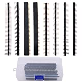 Hilitchi 40Pcs(8 Kinds) 2.54mm Breakaway PCB Board 40 Pin Male and Female Pin Header Connector Kit for Arduino Prototype Shield