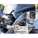 Chrome Front Left Bracket Holder Cam Camera Mount for BMW R 1200 GS R1200GS 2013-2016 BMW R1200GS Adv Motorrad Gopro 4 5