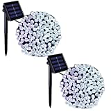 Binval Solar Fairy Christmas String Lights, 2-Pack 72ft 200LED, Ambiance Lighting for Outdoor, Patio, Lawn, Landscape, Fairy Garden, Home, Wedding, Holiday Party and Xmas Tree(White) (Color: White 2-pack)