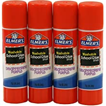 Elmer's Disappearing Purple School Glue Sticks, 0.24 oz Each, 4 Sticks per Pack (E543)