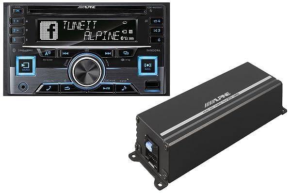 KTP-445A - Alpine 4-Channel 45W RMS X 4 at 4-Ohms Amplifier (Color: black)