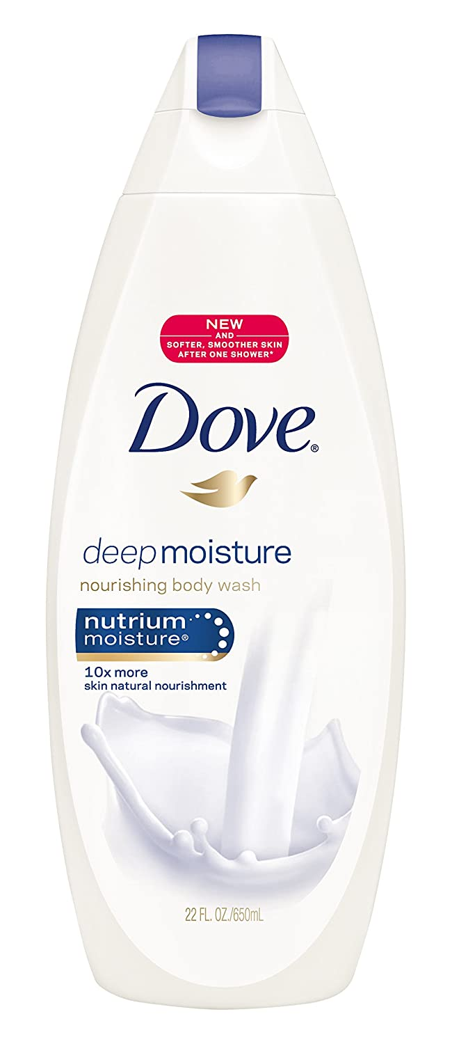 Dove Body Wash, Deep Moisture, 22 Ounce (Pack of 4)