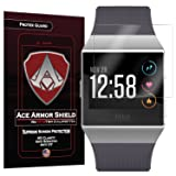 Ace Armor Shield screen protector for Fitbit Ionic Smartwatch 6 pack (Color: Clear, Transparent)