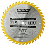 OVERPEAK Cutting Circular Saw Blade 10 Inch 40 Tooth Woodworking Thin Kerf General Purpose with 5/8 In Arbor (Color: Multi, Tamaño: 10 Inch 40 Tooth)