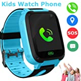 Kids Smart Watch Phone, LBS/GPS Tracker SOS Camera Touch Screen Game Smartwatch Outdoor Activities Birthday Gift for 3-12 Year Old Boys Girls (S4-Blue) (Color: S4-blue)