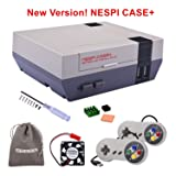 New Version! Retroflag NESPi Case+ Plus with USB Wired Game Controllers & Cooling Fan & Heatsinks for RetroPie Raspberry Pi 3/2 Model B & Raspberry Pi 3B+ (Color: Case & Gamepads)
