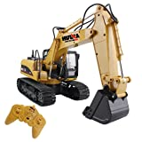 RC Alloy Excavator 2.4GHz 15 Channels Electric Engineering Construction Truck With Light and Sound Full Function Crawler Tractor (Color: Dump Truck,bulldozer,excavator)