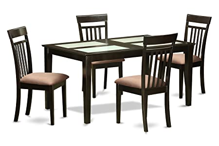 East West Furniture CAP5G-CAP-C 5-Piece Dining Room Table Set