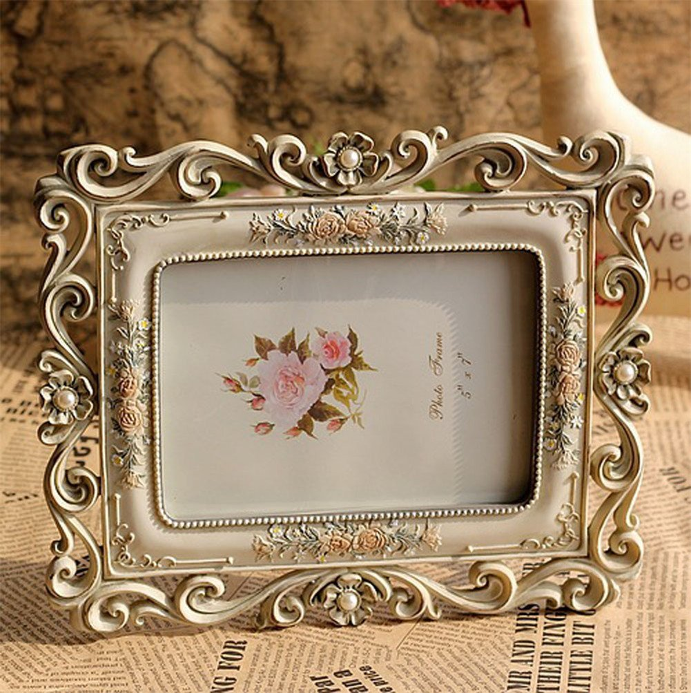 Gift Garden Vintage Picture Frame 5 by 7 -Inch Hollow up for Photo 5x7 2
