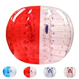 Bubble Soccer Balls Dia 5' (1.5m) Human Hamster Ball, Bubble Football,Bumper Ball, Zorbing Ball, Knocker Ball, Smash Ball Stress Ball Loopy Ball (Red and Clear) (Color: Red and Clear, Tamaño: 1.5 Diameter)