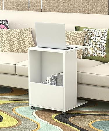 Mesa auxiliar Estantería creativa Sofá moderno simple Mesa auxiliar Mesa de centro pequeña Mesa de centro Puede moverse ( Color : E , Tamaño : 40*40*58cm )