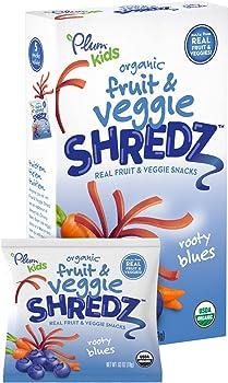 8-Pack Plum Kids Organic Fruit Shredz