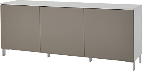 "Germania 3730-520 Sideboard mit ""Push-to-open""-Funktion GW-Nivala in Weiß/Sand, 170 x 70 x 41 cm (BxHxT)"