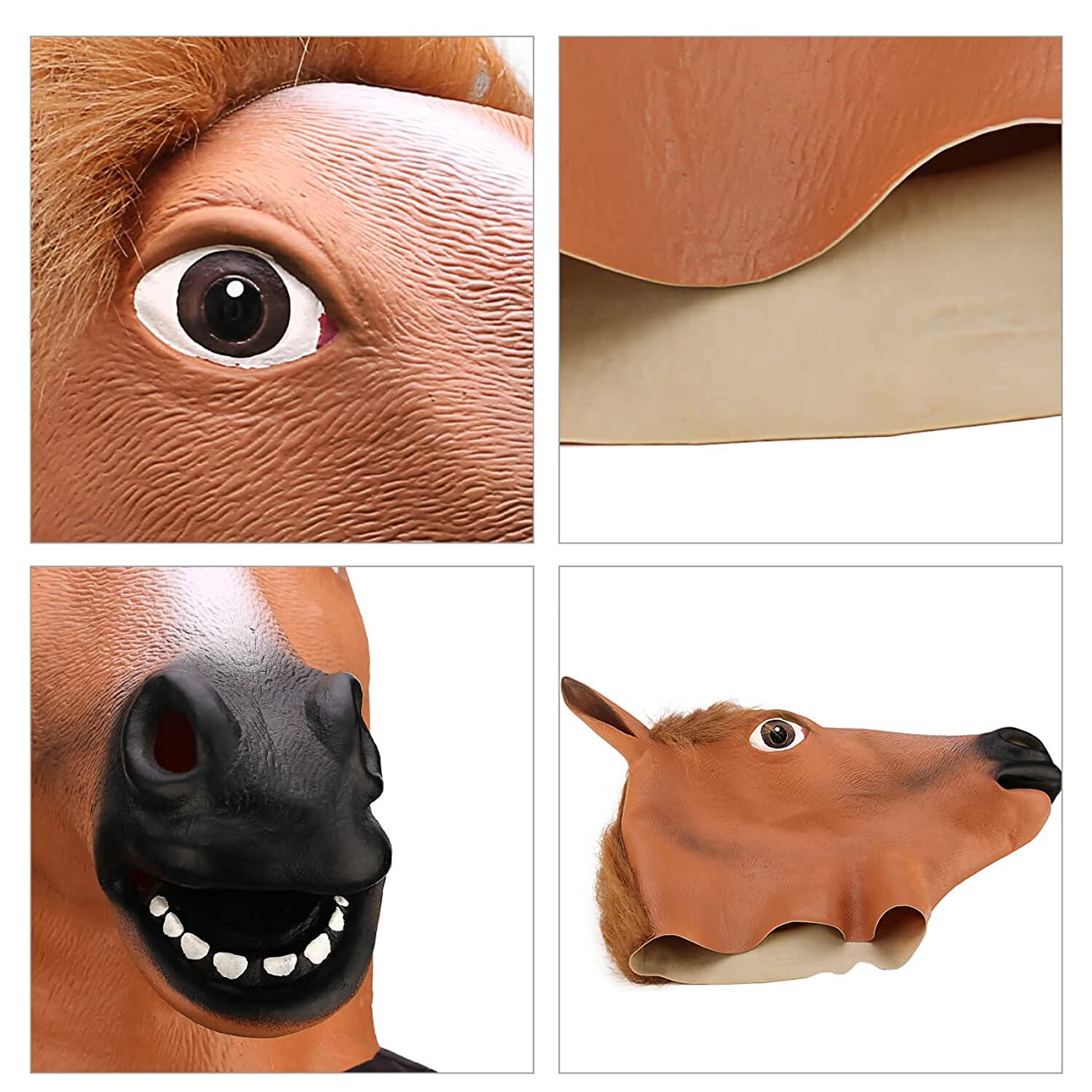 Ylovetoys Latex Horse Head Mask Halloween Costume Animal Masks 5