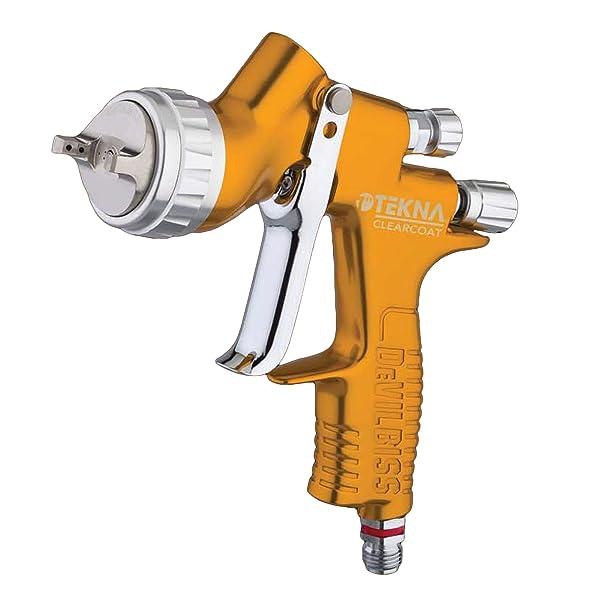 Tekna Clearcoat Spray Gun (TEK-704198) (Color: Yellow Orange/Copper)