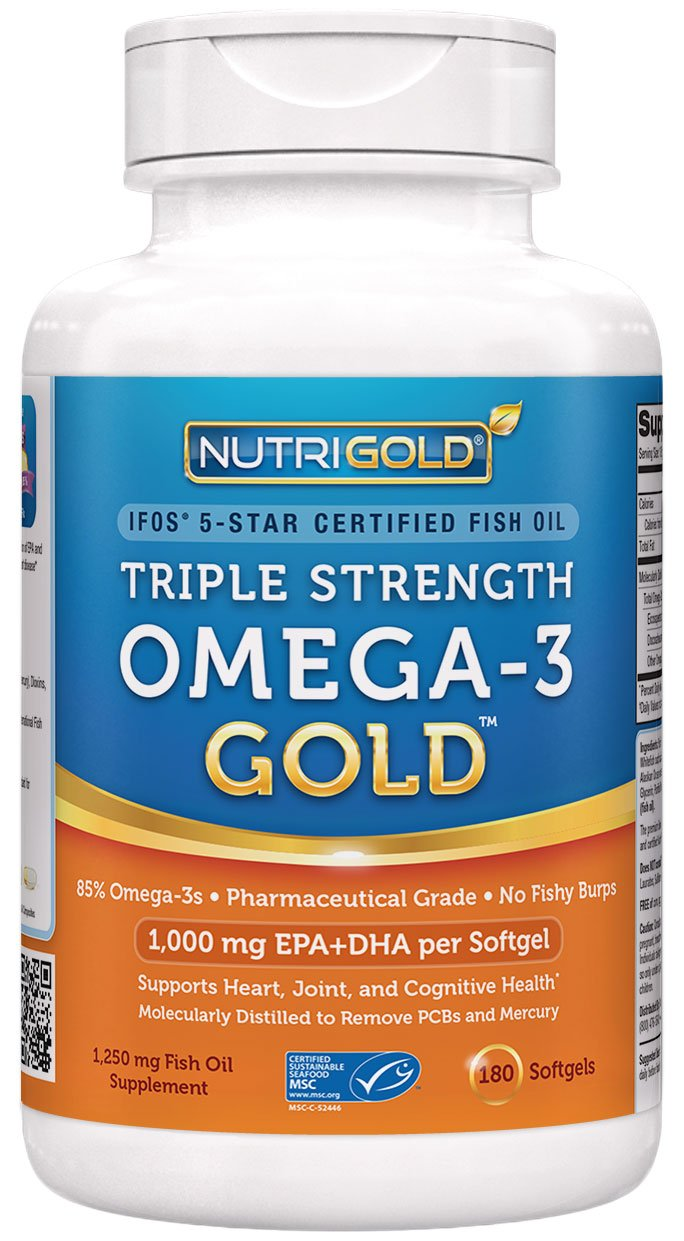 nutrigold triple strength omega 3 fish oil gold 60