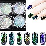 LtrottedJ Nail Art Gorgeous Chameleon Mirror Powder Manicure Chrome Pigment Glitters 0.2g (A) (Color: A)
