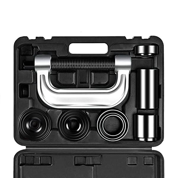 OrionMotorTech Heavy Duty Ball Joint Press & U Joint Removal Tool Kit with 4wd Adapters, for Most 2WD and 4WD Cars and Light Trucks (BK)